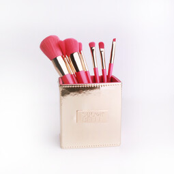 7 in 1 Makeup Brush Set with Gold Magnetic Case